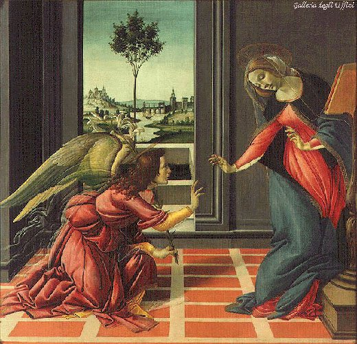 The Annunciation 1489 | Sandro Botticelli | Oil Painting