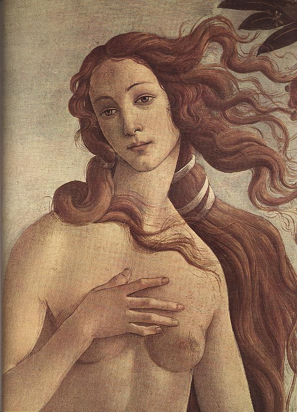 The Birth Of Venus (Detail) C1485 | Sandro Botticelli | Oil Painting