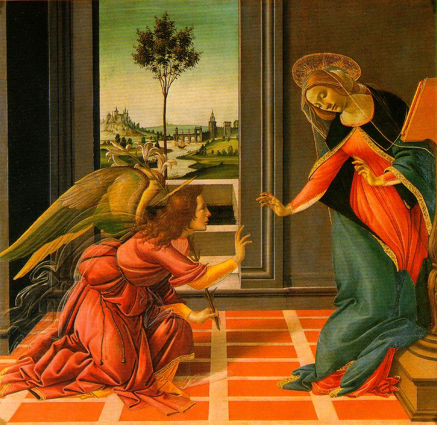 The Cestello Annunciation C1489 | Sandro Botticelli | Oil Painting