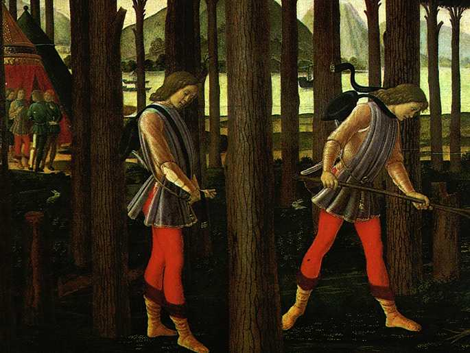 The Story Of Nastagio Deglionesti (Detail Of The First Episode) 1483 | Sandro Botticelli | Oil Painting