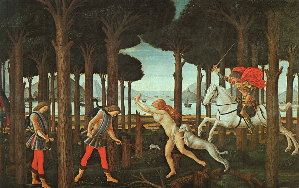 The Story Of Nastagio Deglionesti (First Episode) 1483 | Sandro Botticelli | Oil Painting