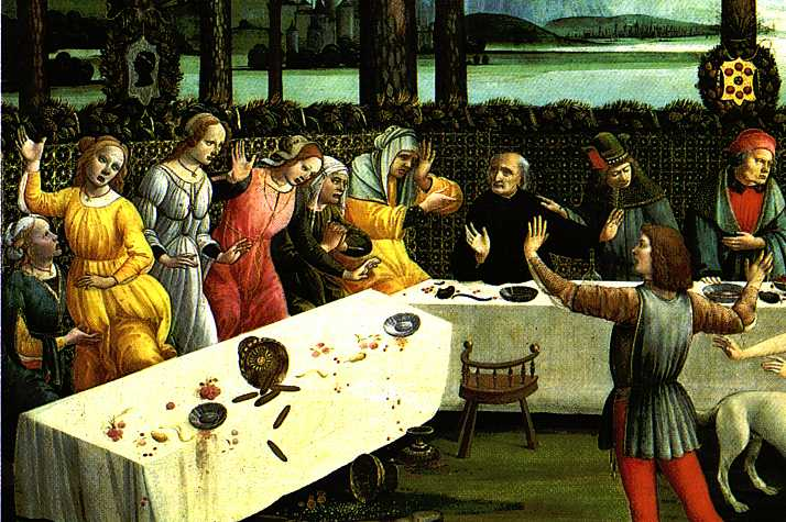 The Story Of Nastagio Degli Onesti (Detail Of The Third Episode) 1483 | Sandro Botticelli | Oil Painting