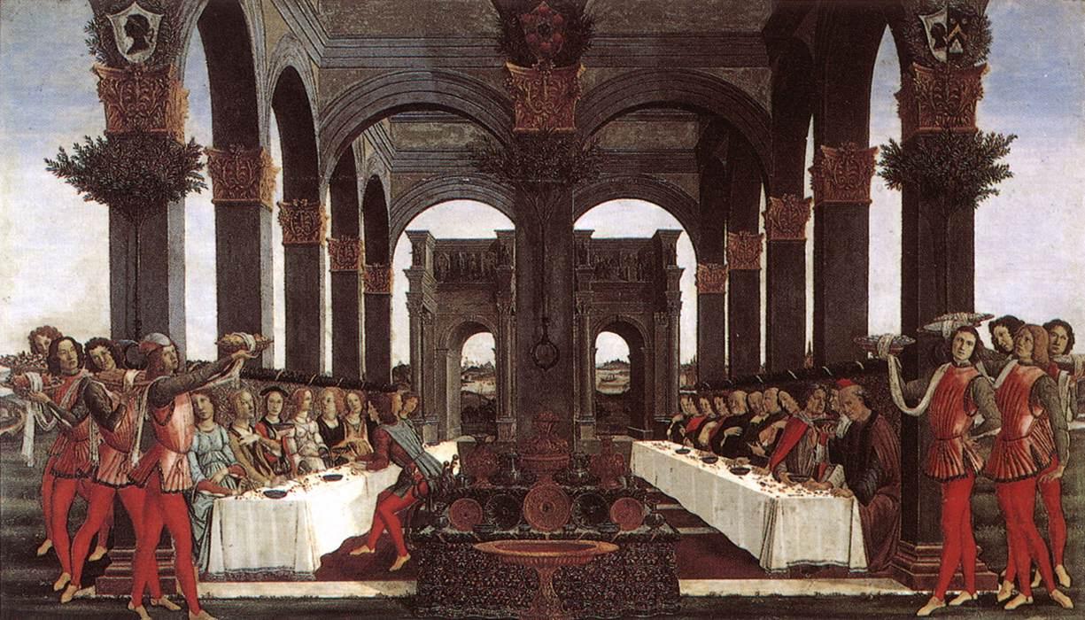 The Story Of Nastagio Degli Onesti (Detail Of The Third Episode) 2 1483   Sandro Botticelli   Oil Painting