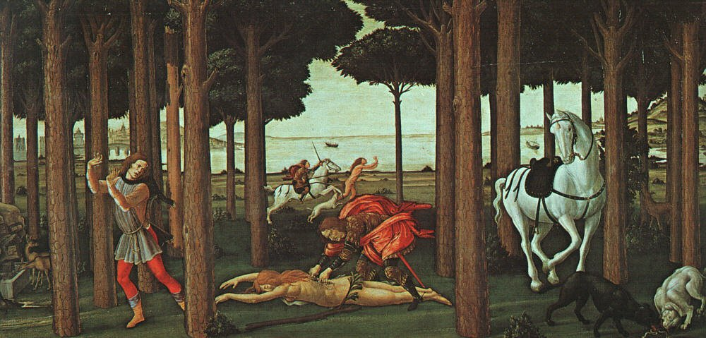 The Story Of Nastagio Degli Onesti (Second Episode) 1483 | Sandro Botticelli | Oil Painting
