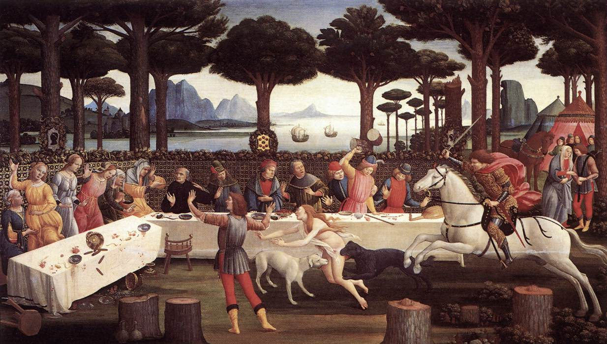 The Story Of Nastagio Degli Onesti (Third Episode) 1483 | Sandro Botticelli | Oil Painting