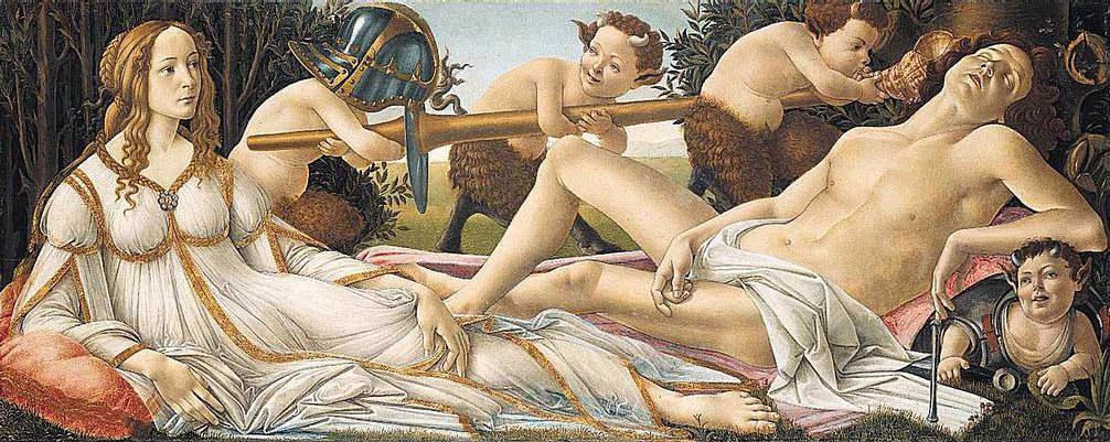Venus And Mars 1480s | Sandro Botticelli | Oil Painting