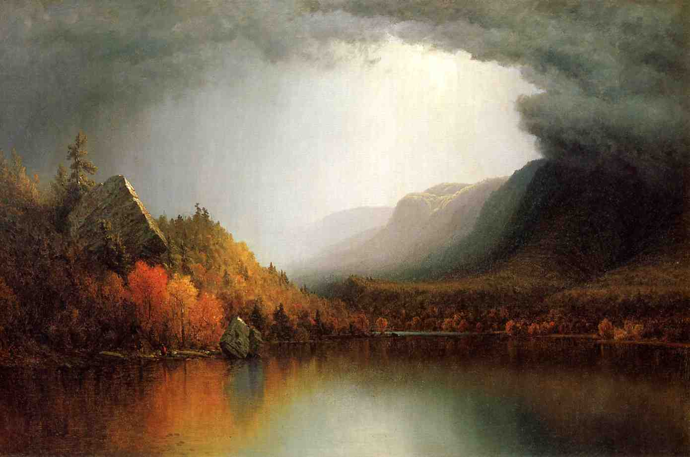 A Coming Storm 1863 | Sanford Robinson Gifford | Oil Painting