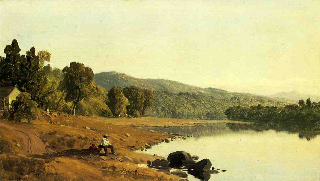 A Moment's Rest   Sanford Robinson Gifford   Oil Painting