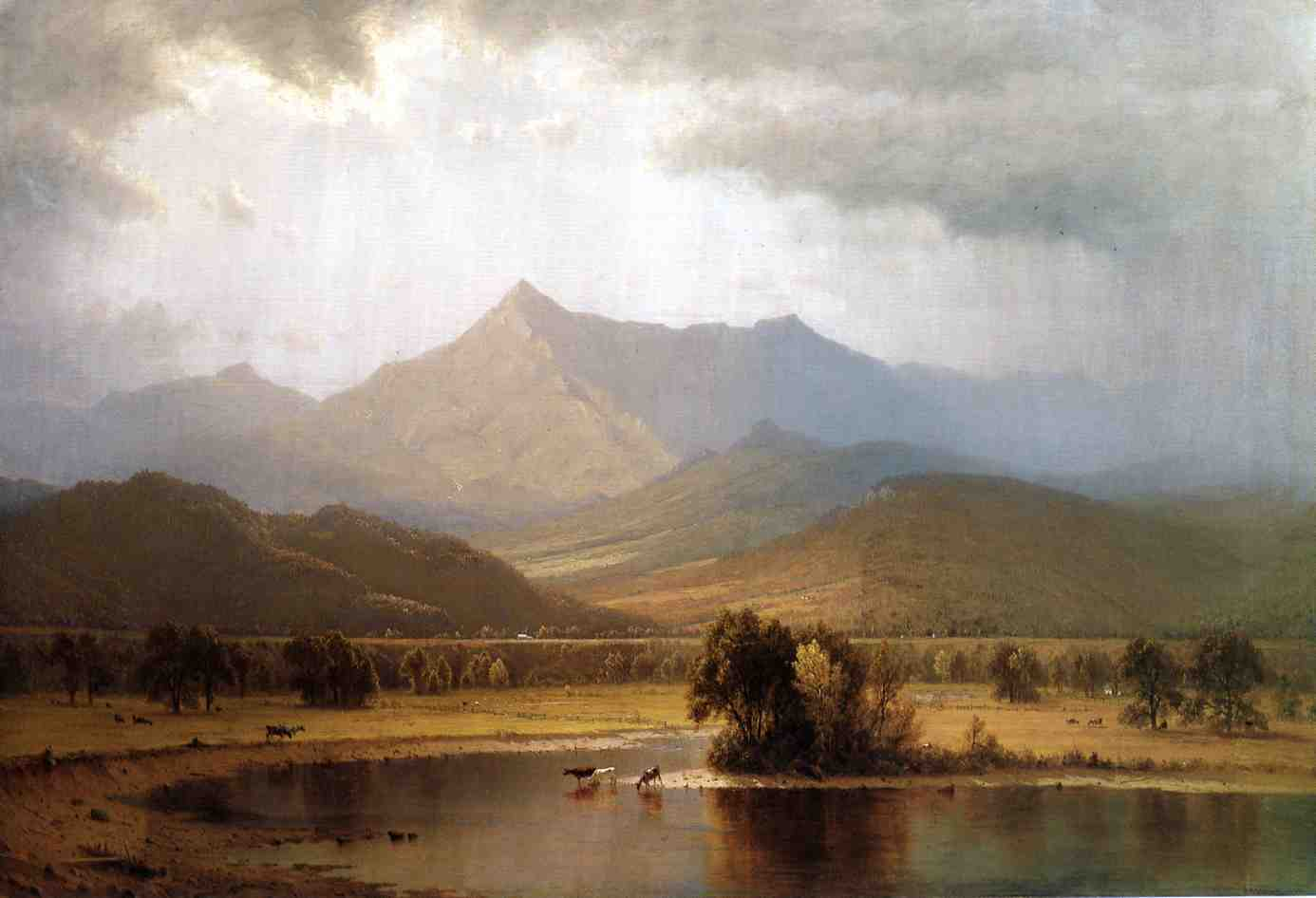 A Passing Storm in the Adirondacks 1866 | Sanford Robinson Gifford | Oil Painting