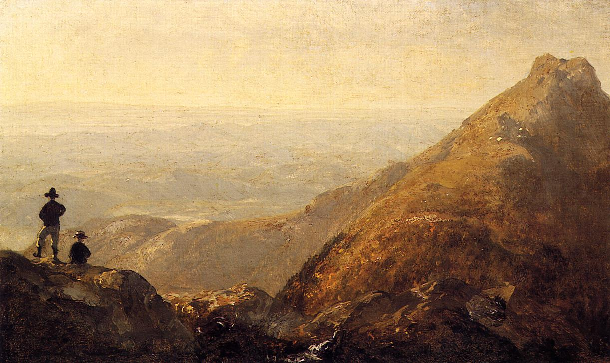 A Sketch of Mansfield Mountain 1858 | Sanford Robinson Gifford | Oil Painting