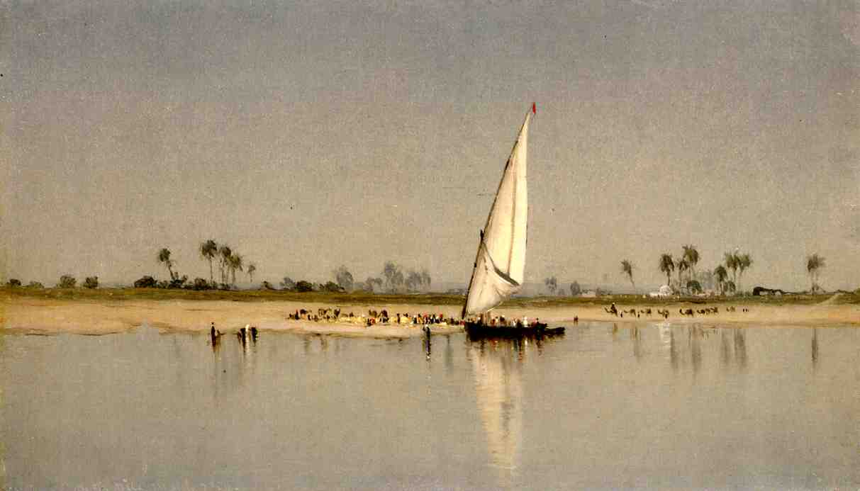 A Sketch on the Nile 1869 | Sanford Robinson Gifford | Oil Painting