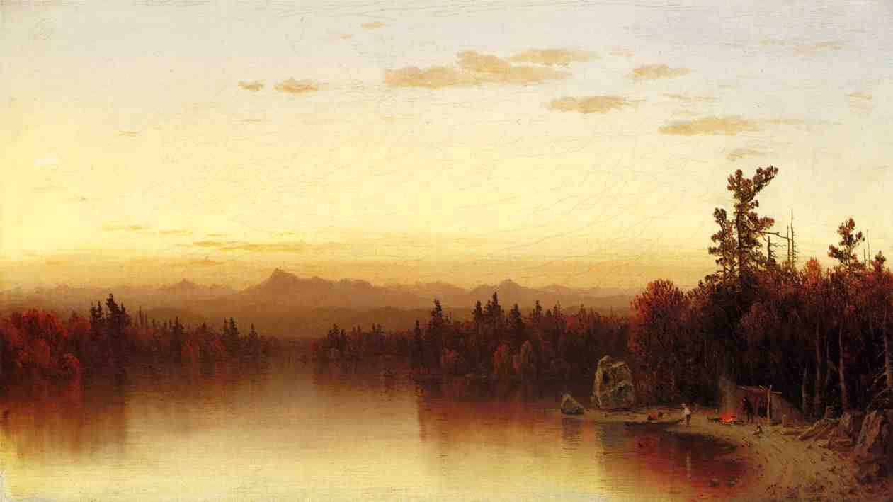 A Twilight in the Adirondacks 1864 2 | Sanford Robinson Gifford | Oil Painting