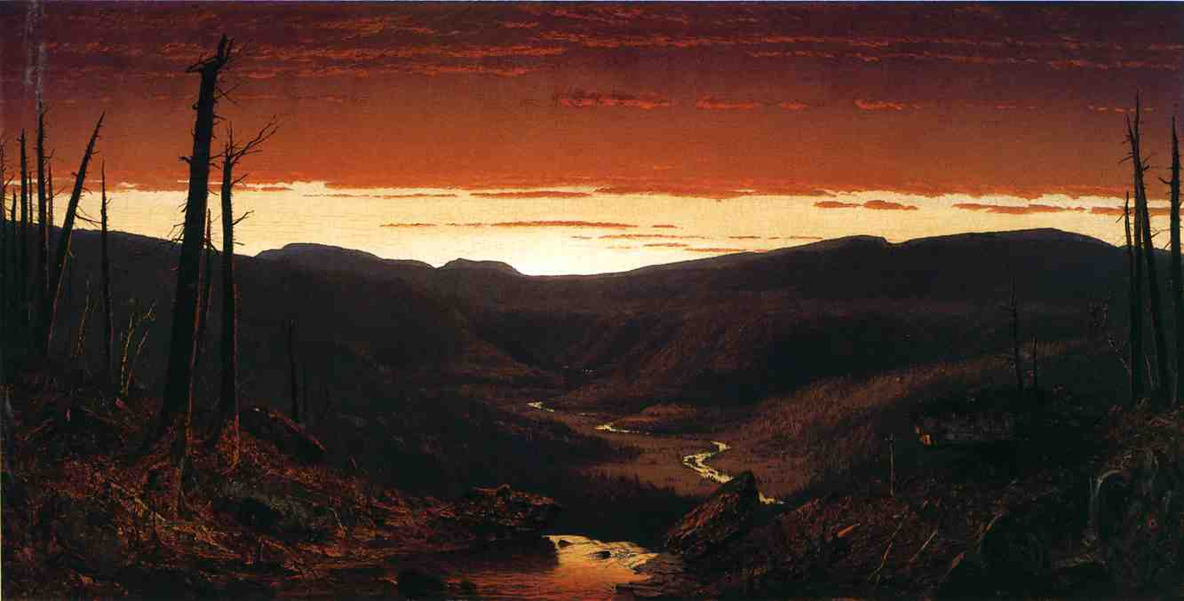 A Twilight in the Catskills 1861 | Sanford Robinson Gifford | Oil Painting