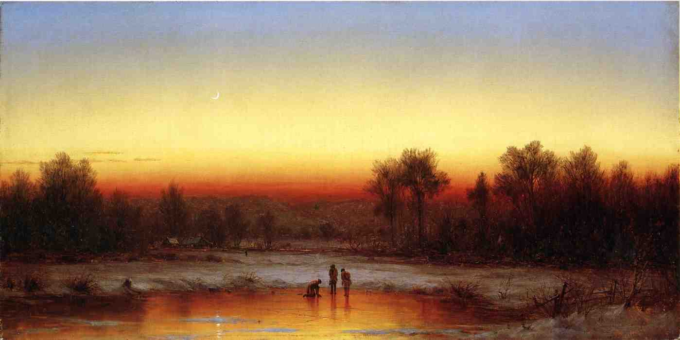 A Winter Twilight 1862 | Sanford Robinson Gifford | Oil Painting