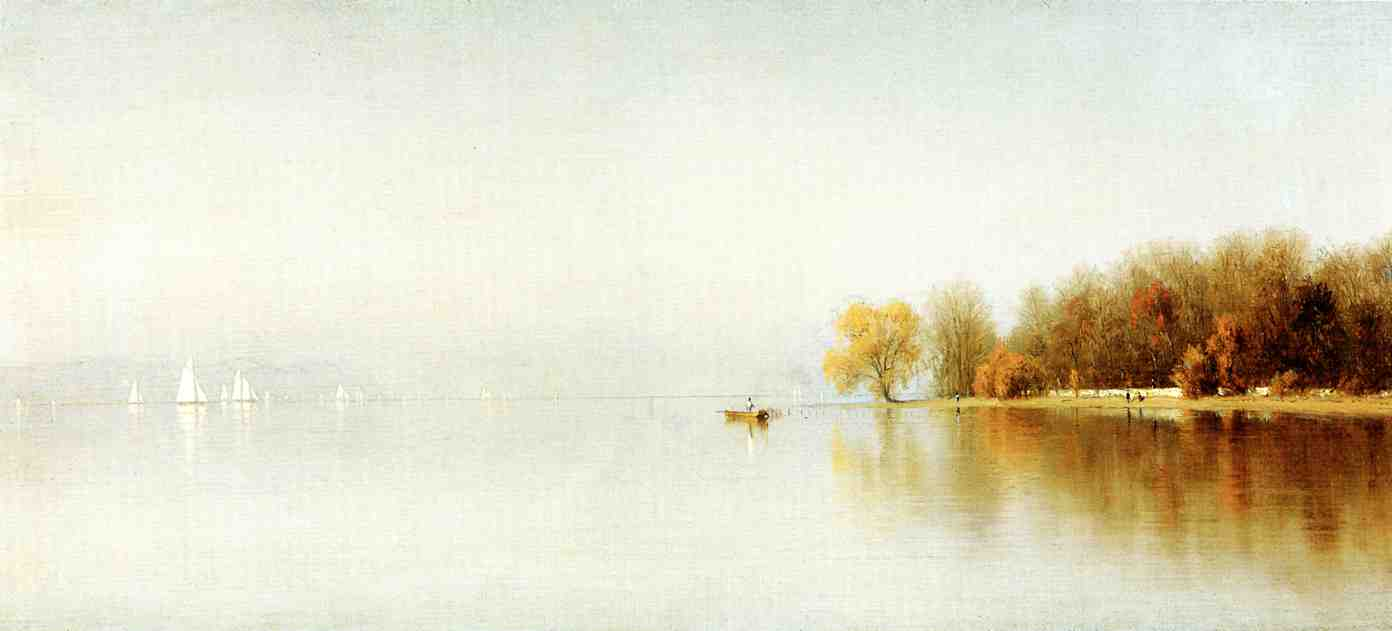 An Indian Summer's Day on the Hudson Tappan Zee 1868 | Sanford Robinson Gifford | Oil Painting