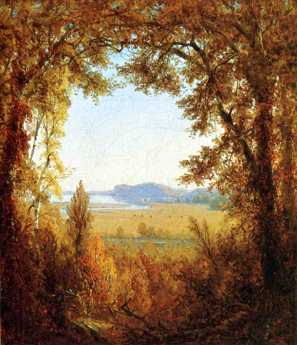Hook Mountain on the Hudson River 1867 | Sanford Robinson Gifford | Oil Painting