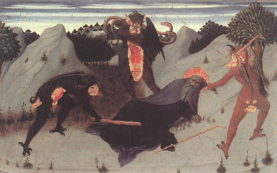 St Anthony The Hermit Tortured By The Devils 1423 | Sassetta | Oil Painting