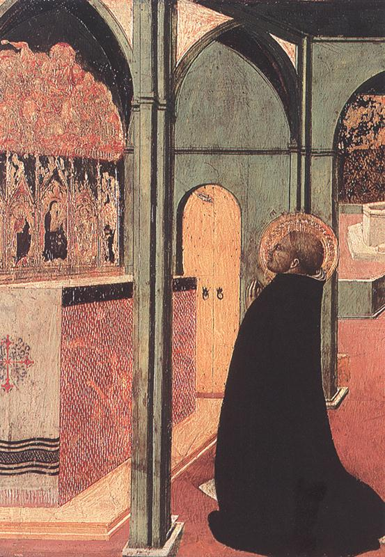 St Thomas Inspired By The Dove Of The Holy Ghost Detail 1423 | Sassetta | Oil Painting