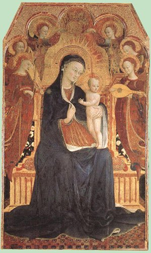 Virgin And Child Adored By Six Angels 1437 | Sassetta | Oil Painting