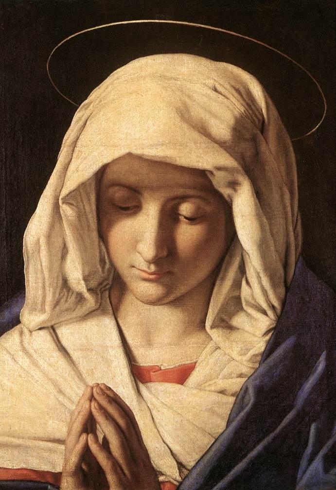 Madonna In Prayer 1640s | Sassoferrato | Oil Painting