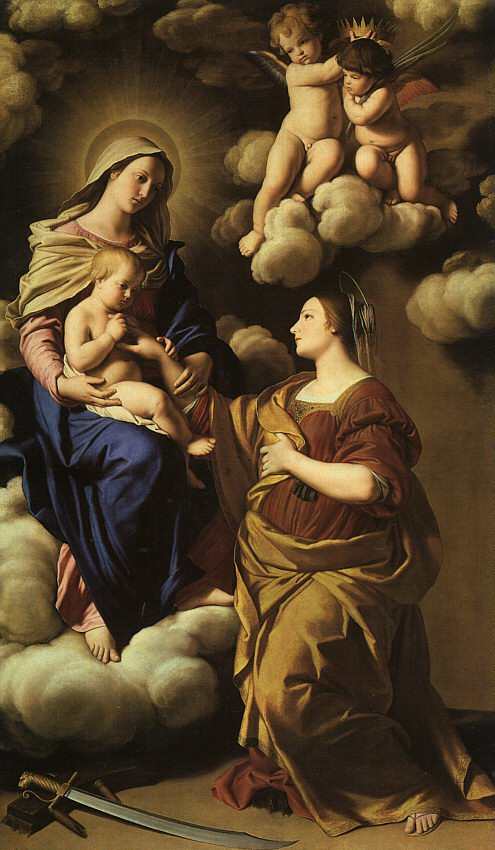 The Mystic Marriage Of St Catherine 1650 | Sassoferrato | Oil Painting