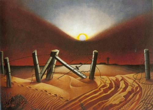 Dust Bowl 1933 | Alexandre Hogue | Oil Painting
