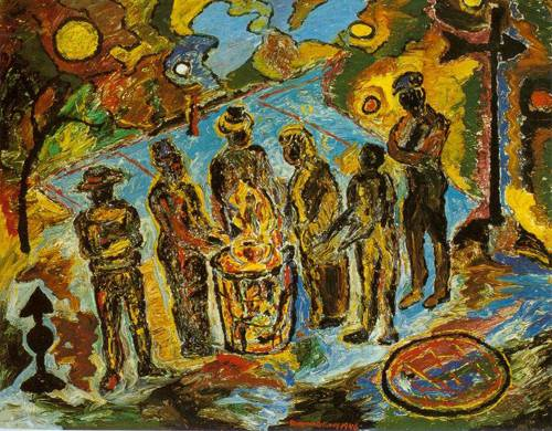 Can Fire In The Park 1946 | Beauford Delaney | Oil Painting