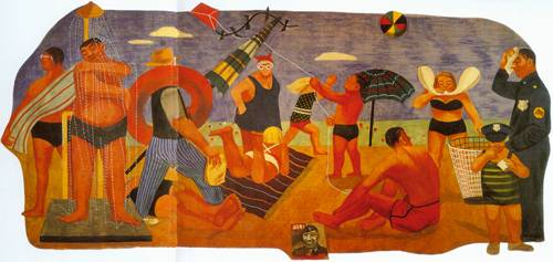 Scenes Of American Life Beach 1941 1947 | Gertrude Goodrich | Oil Painting