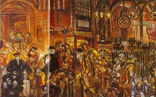 Penn Station At War Time 1943 | Joseph Delaney | Oil Painting