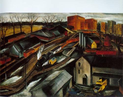 Island Dock Yard 1934 | Karl Fortess | Oil Painting