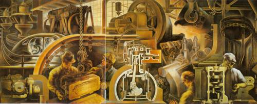 Automotive Industry 1940 | Marvin Beerbohm | Oil Painting