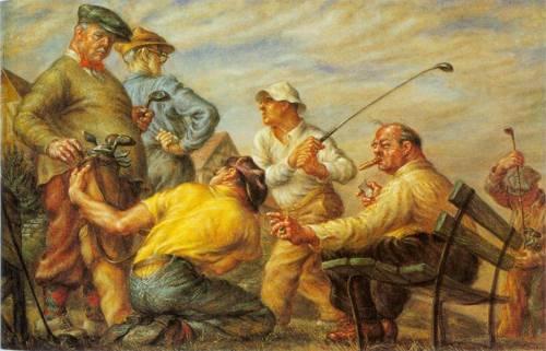 Aspects of Suburban Life Golf | Paul Cadmus | Oil Painting