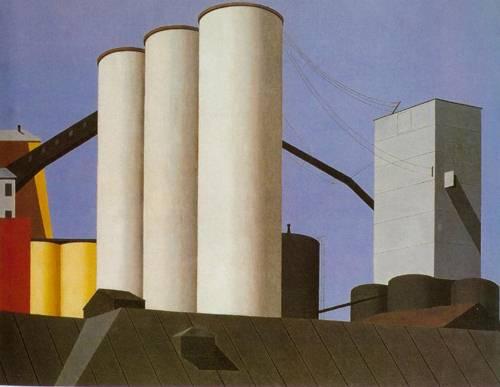 Buffalo Grain Elevators 1937 | Ralston Crawford | Oil Painting