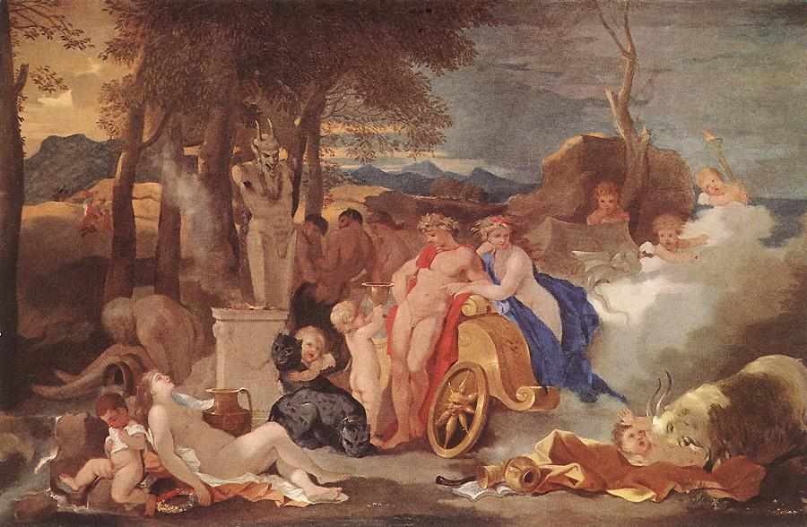 Bacchus And Ceres With Nymphs And Satyrs 1640-60 | Sebastien Bourdon | Oil Painting