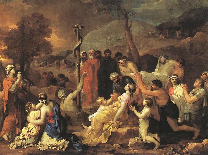 Moses And The Brazen Serpent 1653-54 | Sebastien Bourdon | Oil Painting