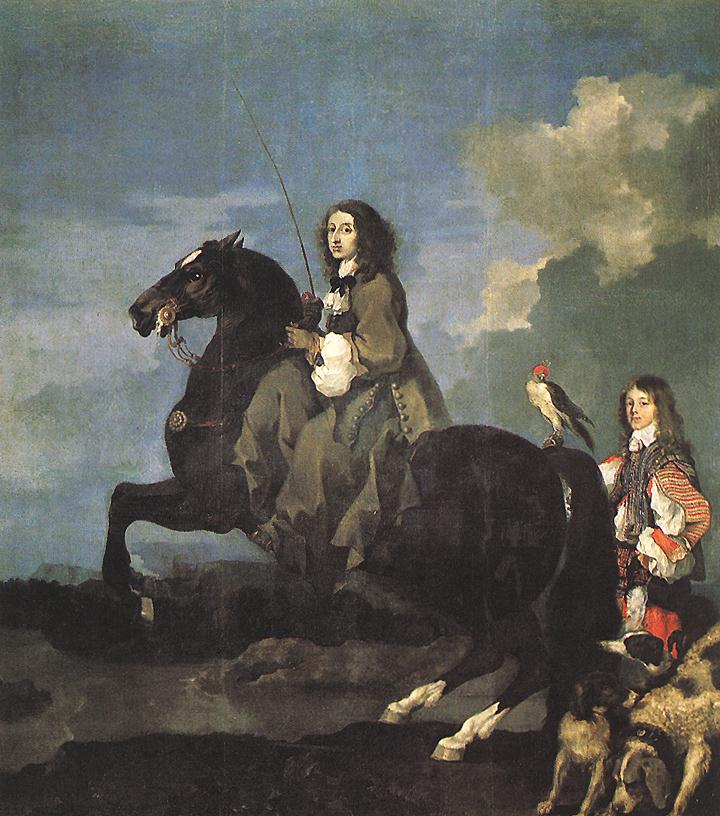 Queen Christina Of Sweden On Horseback 1653 | Sebastien Bourdon | Oil Painting