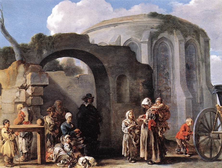 The Beggars 1635-40 | Sebastien Bourdon | Oil Painting