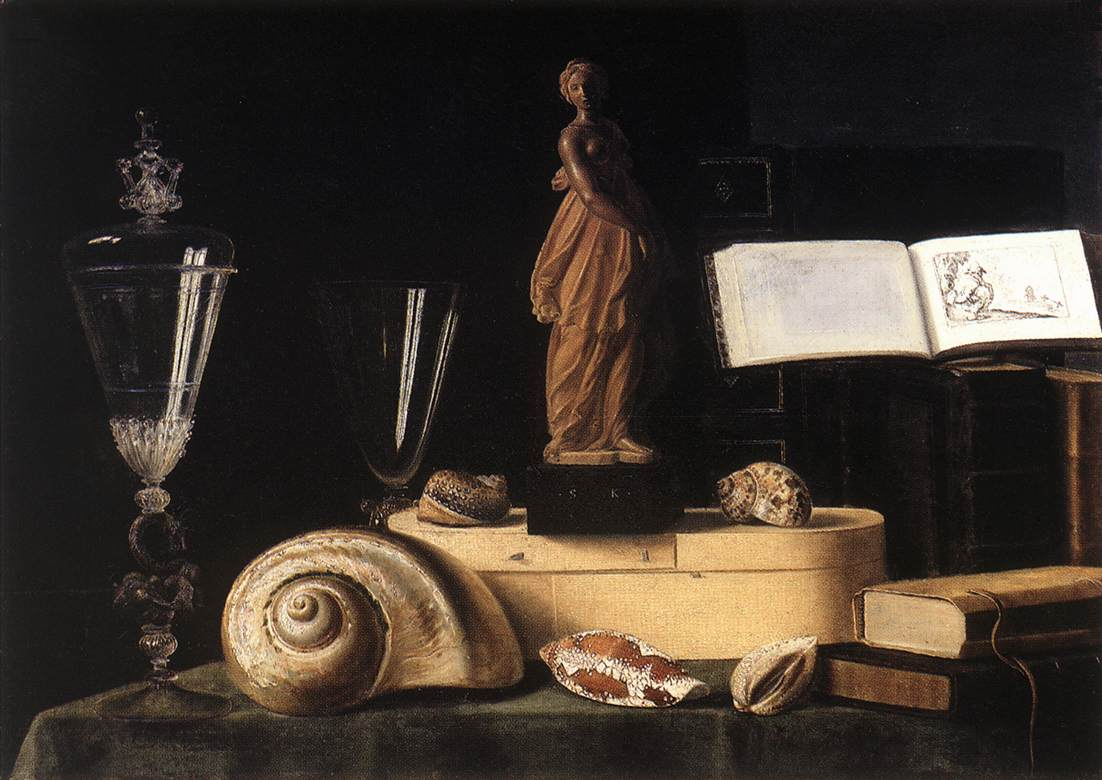 Still Life With Statuette And Shells | Sebastien Stoskopff | Oil Painting