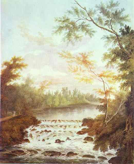 A Cascade In The Gatchina Park 1798 | Semion Shchedrin | Oil Painting