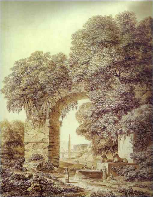 Landscape With Ruins 1799 | Semion Shchedrin | Oil Painting