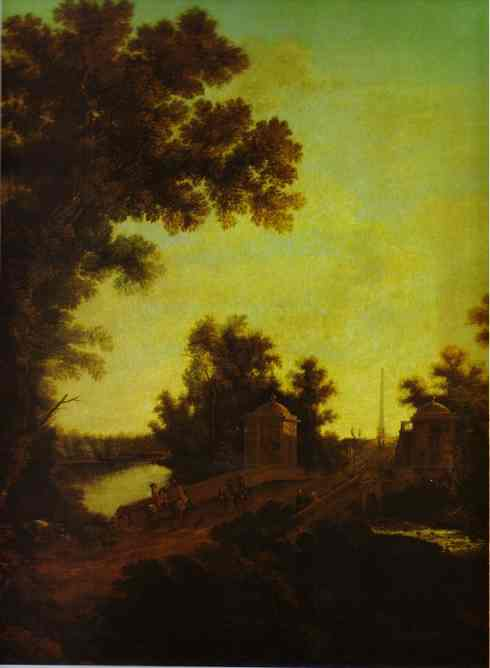 The Stone Bridge At Gatchina 1799-1801 | Semion Shchedrin | Oil Painting