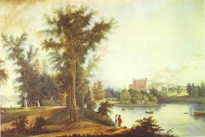 View On The Gatchina Palace From Long Island 1798 | Semion Shchedrin | Oil Painting