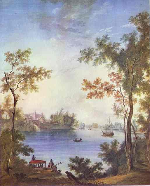 View On The Gatchina Palace From The Silver Lake 1798 | Semion Shchedrin | Oil Painting