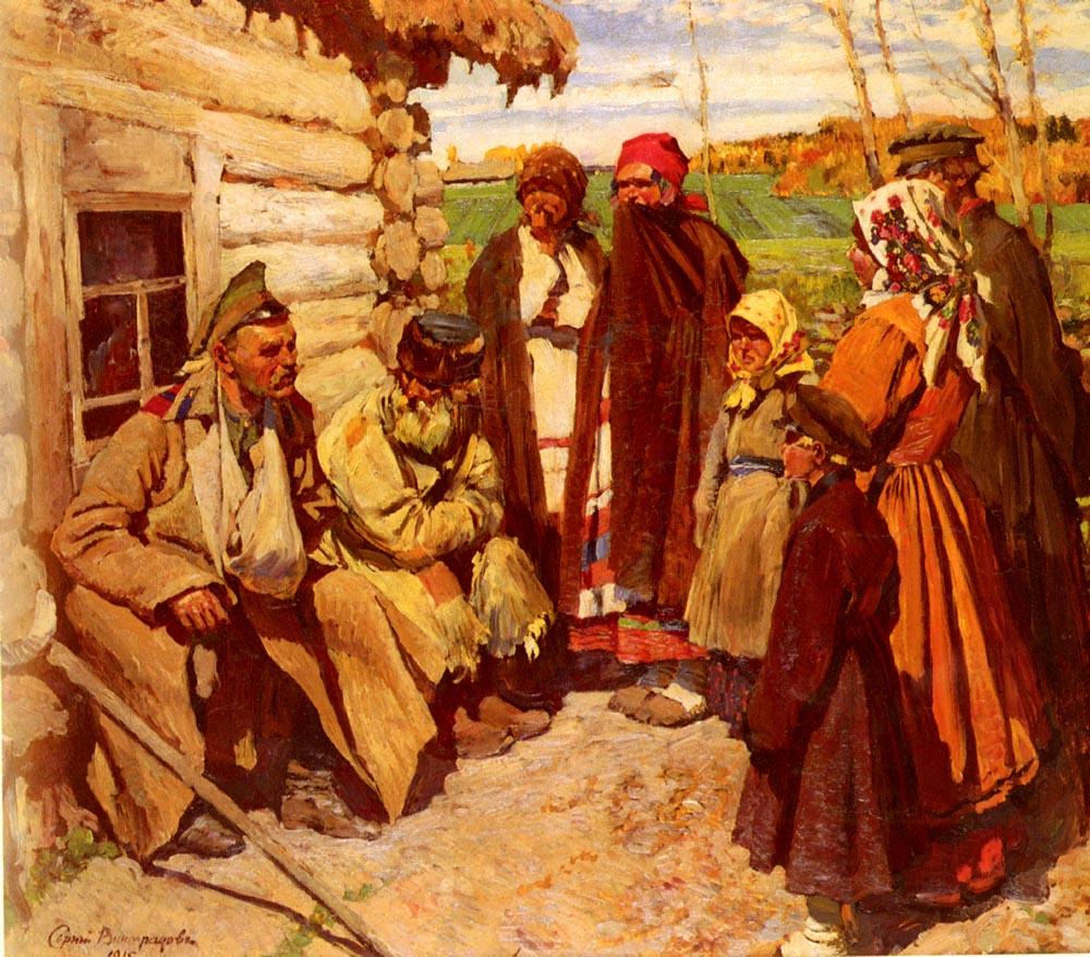 Tales Of War | Sergei Arsenievich Vinogradov | Oil Painting