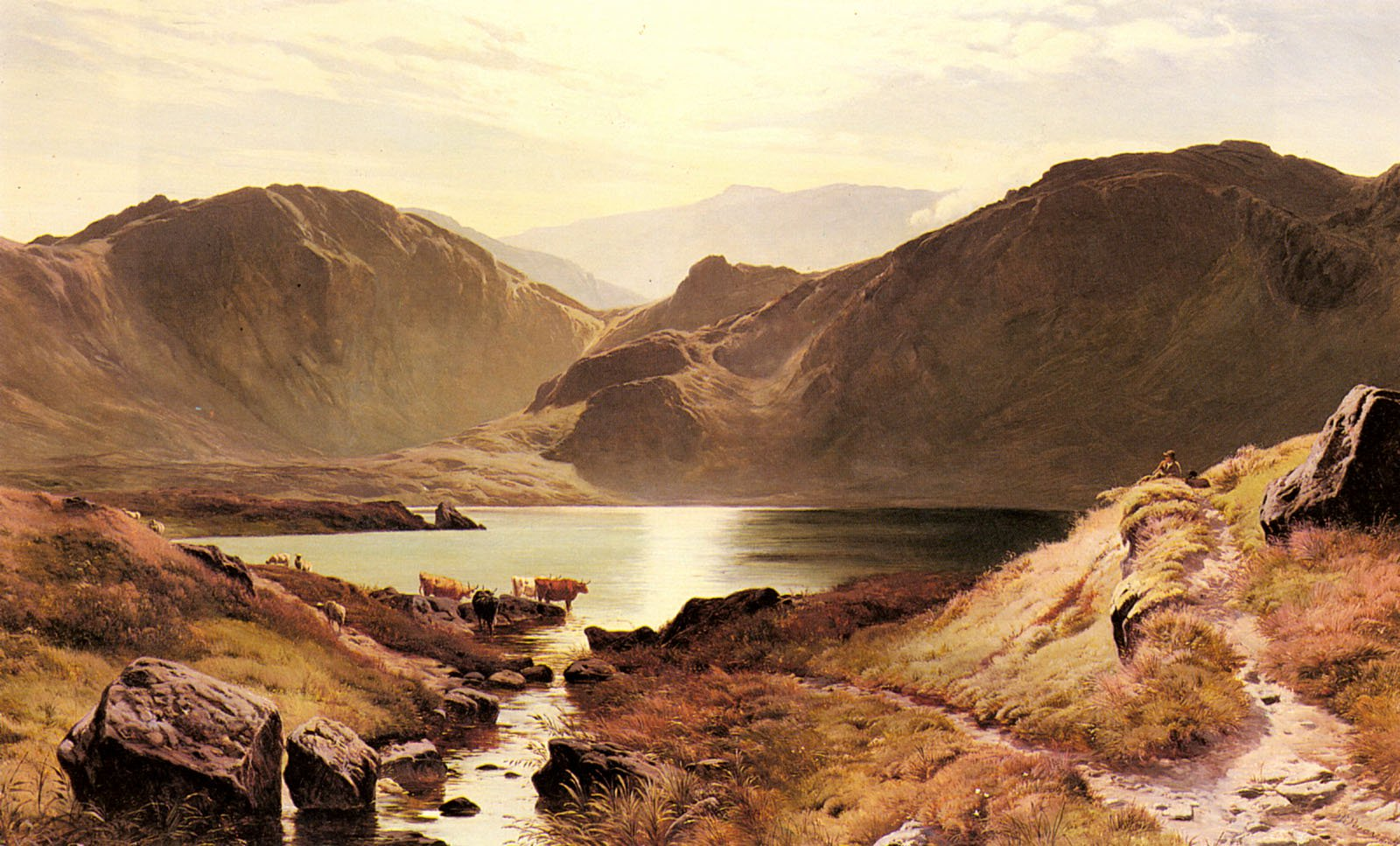 Easdale Tarn Westmoreland | Sidney Richard Percy | Oil Painting