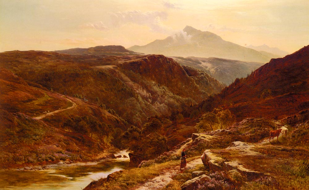 Moel Siabab North Wales | Sidney Richard Percy | Oil Painting
