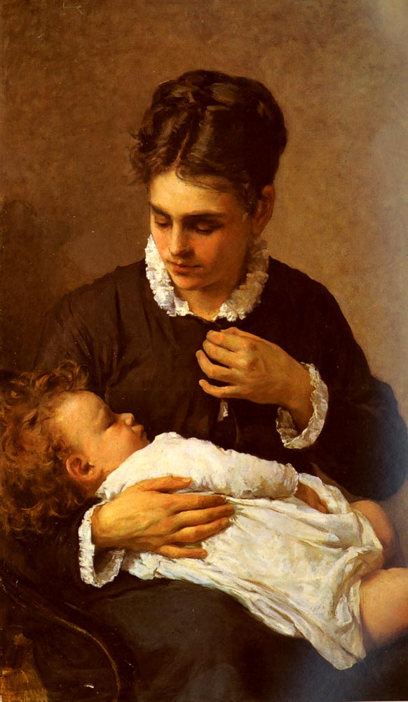 Maternity | Silvestro Lega | Oil Painting