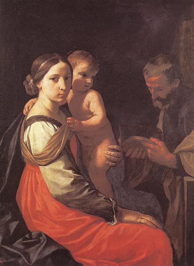 Holy Family | Simone Cantarini | Oil Painting