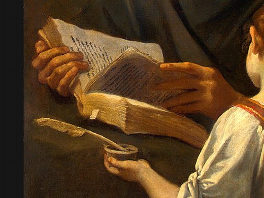 Saint Matthew And The Angel (Detail) 1645-48 | Simone Cantarini | Oil Painting