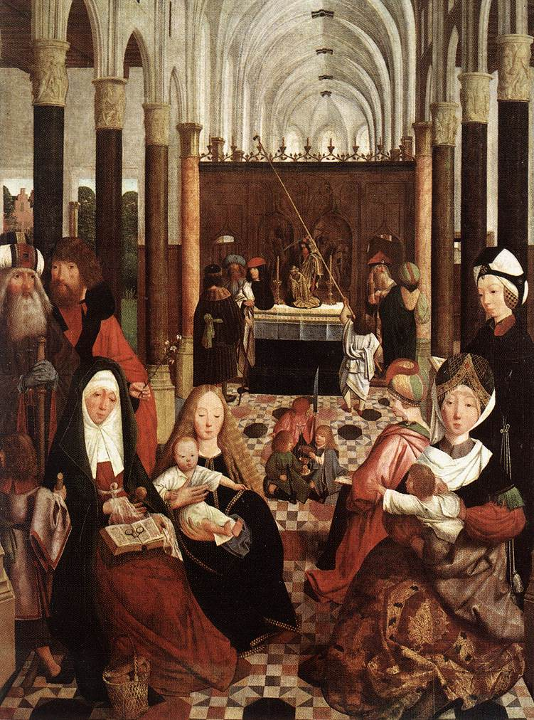 The Holy Kinship 1475-80   Sint Jans Geertgen   Oil Painting